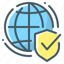 secure, security, shield, web, web security, globe
