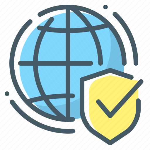 Secure, security, shield, web, web security, globe icon - Download on Iconfinder