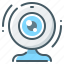 camera, chat, video, video chat, web, web camera icon