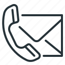 contact, envelope, handset, telephone icon