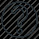 mark, question, question mark icon