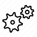 gear, maintenance, network, repair, settings icon