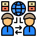 communication, connection, data, information, personnel, technology, wireless icon
