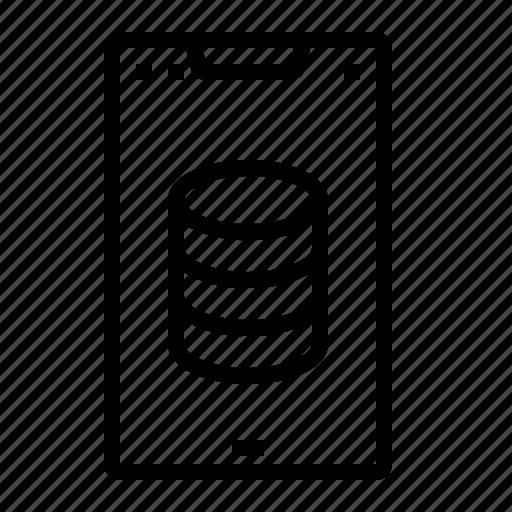 database, mobile, phone, server, smartphone icon