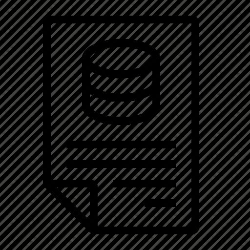 data, database, document, file, format icon