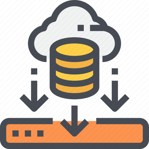 cloud, data, database, download, network, storage icon