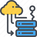 cloud, data, database, hosting, server, storage