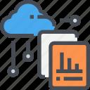 cloud, data, graph, report, storage icon