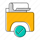 approved, checkmark, email, mail icon