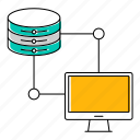 computer, database, server icon