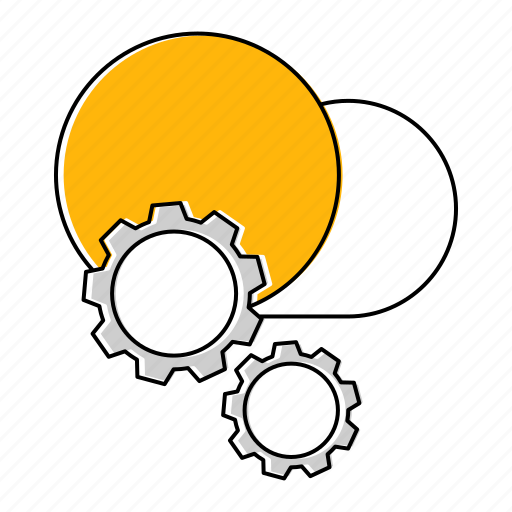 configuration, gear, hosting, network, technology icon
