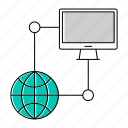 computer, database, network, server icon