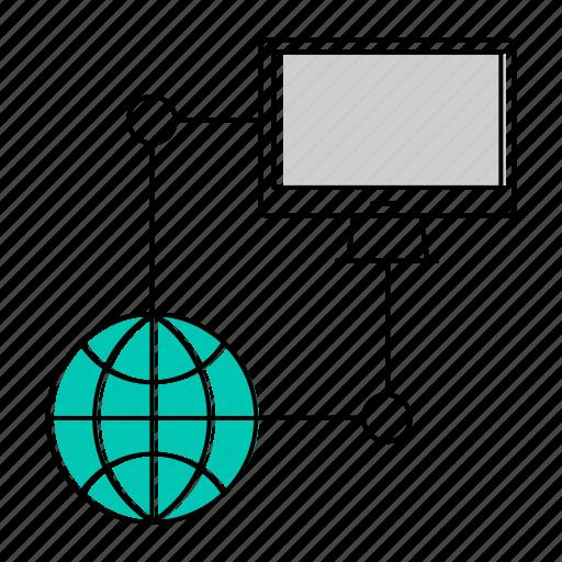 computer, database, network, server icon