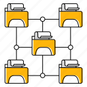 file, folder, hosting, network, technology icon