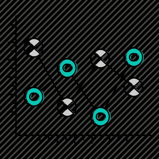 diagram, graph, report icon