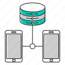 phone, server, smartphone icon
