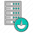hosting, network, performance, server, technology icon