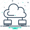 cloud, computing, network, server, technology icon