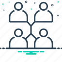 connect, connection, networking, people icon