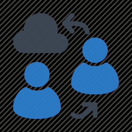 cloud, exchange, storage, transfer, user icon