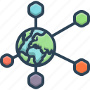 communication, connection, global, globe, network