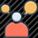 communication, man, speaking, talking icon
