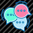 bubble, chat, communication, message