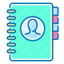 list, communication, contact icon