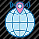 communication, geolocation, hotspot, navigation, wi-fi icon