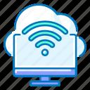 cloud, communication, computer, internet