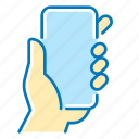 communication, hand, mobile, phone icon