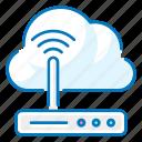 cloud, communication, internet, router
