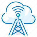 antenna, cloud, communication, wireless