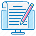 blogging, computer, network, pencil