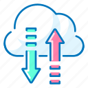 access, arrows, cloud, network