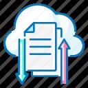 access, cloud, file, network icon