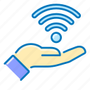 hand, network, wi-fi