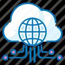 cloud, internet, network, things