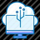 cloud, computer, connection, network