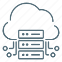 cloud, data, network, server, technology icon