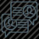 discussion, forum, network icon