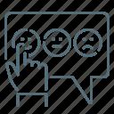emoticons, feedback, hand, network icon
