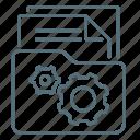 file, folder, gear, management, network