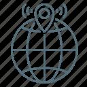 geolocation, hotspot, navigation, network, wi-fi icon