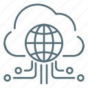 cloud, internet, network, things icon