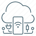 cloud, internet, mobile, network, phone, things icon
