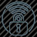 lock, network, secure, wi-fi, wireless icon