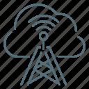 antenna, cloud, network, wireless