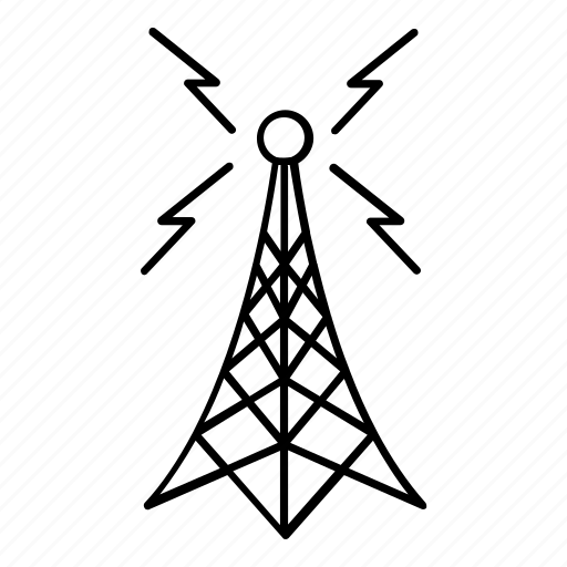 antenna, broadcast, communication, connection, noise, radio waves, signal icon