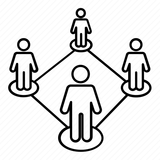 community, connection, friends, group, network, society, union icon